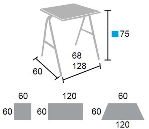 Mesa escolar plegable detalle 1