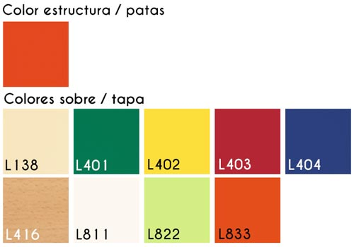 Mesa Castillo almenas rectangular detalle 4