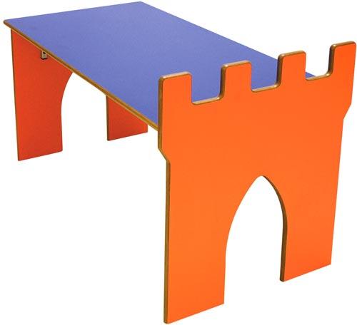 Mesa Castillo almenas rectangular detalle 3