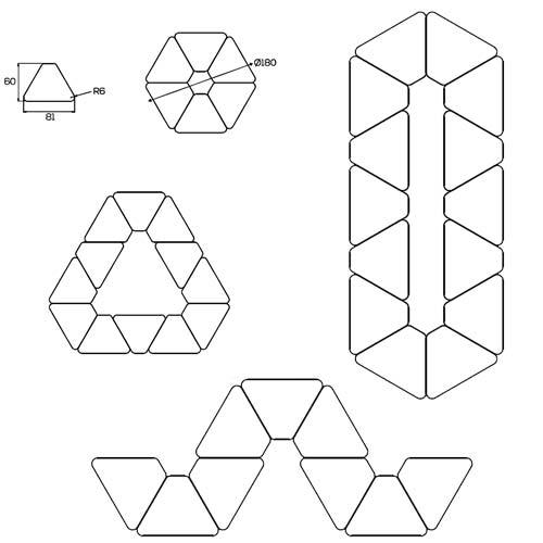 Pupitre 1/6 hexágono detalle 1