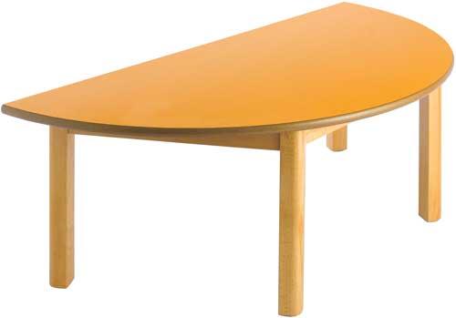 Mesa semicircular Lux 120 x 55 cm