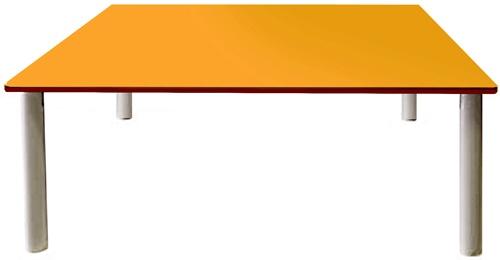 Mesa comedor 120x120 cm patas metal