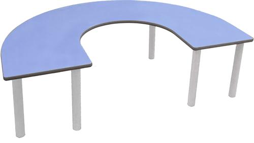 Mesa en U 150 x 100 cm pata metal