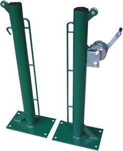 Postes pádel fijos metal con base para atornillar 2 ud