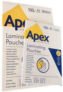 Fundas para plastificar Apex A3