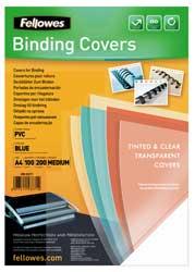 Tapas encuadernar PVC cristal colores