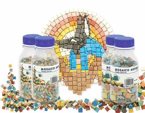 Botella 250 gr Mosaicos antiguos distintos tamaños