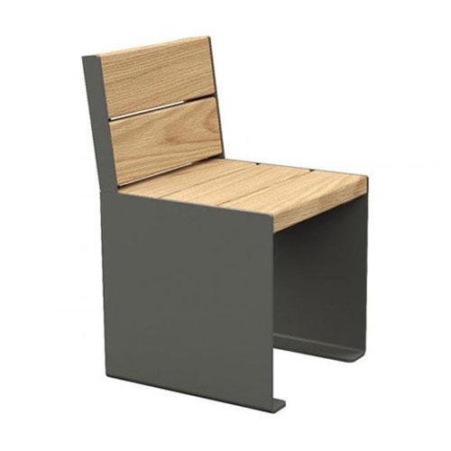 Sillón / Banco Rig Acero y madera