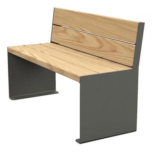 Sillón / Banco Rig Acero y madera detalle 1
