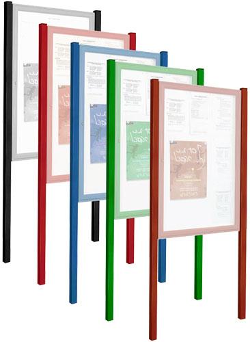 Postes para vitrinas exterior Tradición color