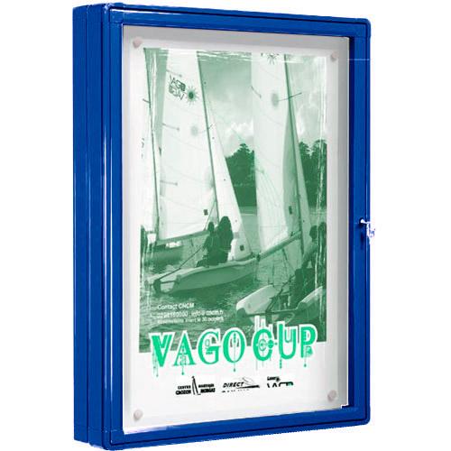 Vitrina exterior DUO 2 caras pintada color puerta batiente