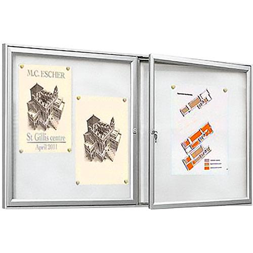 Vitrinas exterior TRADI Aluminio 2 puertas detalle 1