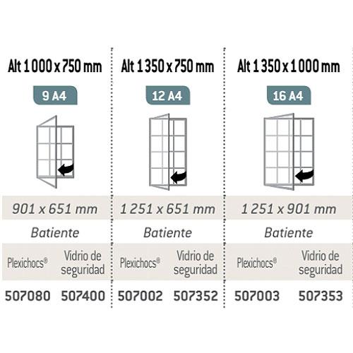 Vitrina exterior MILE Aluminio 1 puerta detalle 3