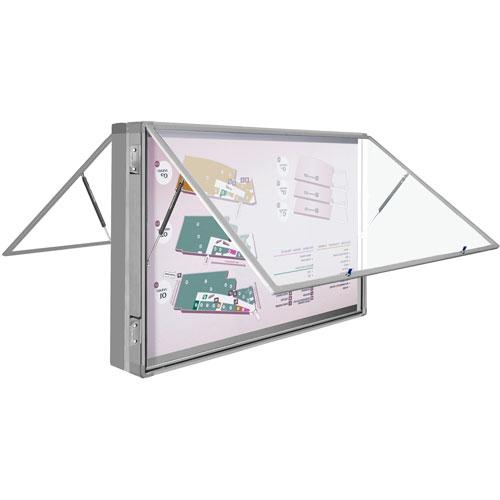 Vitrinas exteriores DUO 2 caras aluminio levadizas