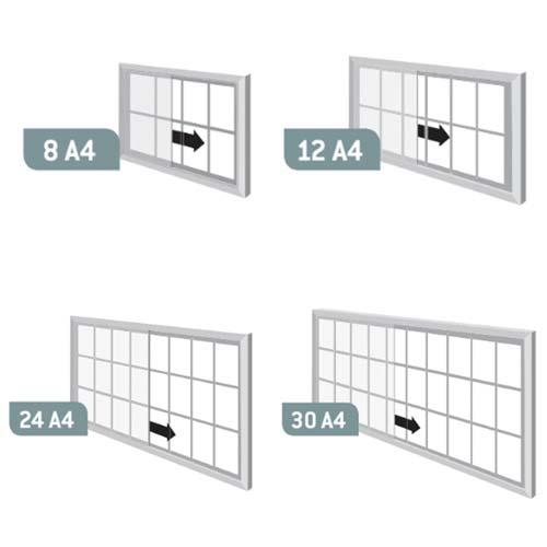 Vitrina interior Close puertas correderas metal aluminio detalle 1