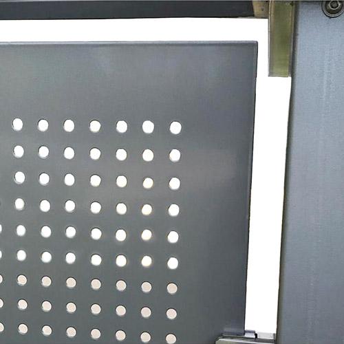 Marquesina antivandálica VIALE metal detalle 1