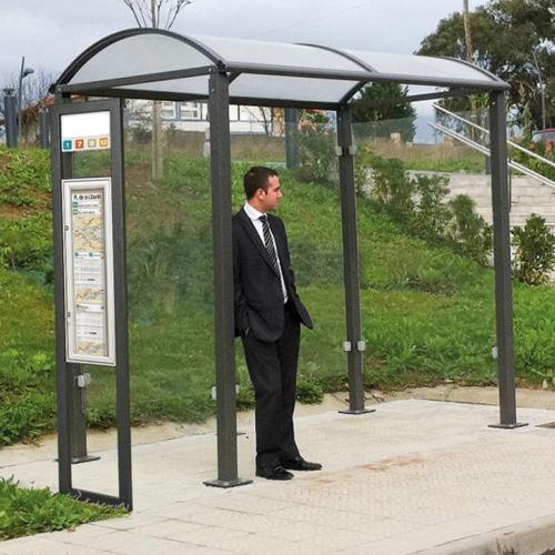 Tótem para parada de autobús MONZA detalle 1