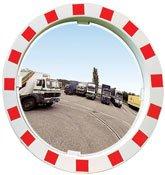 Espejos industria marco blanco y rojo. Control 2 direcciones detalle 1