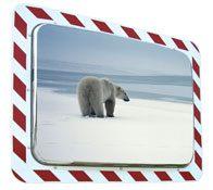 Espejos industria marco blanco y rojo. Control 2 direcciones calidad 4