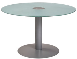 Mesas con pie redondo
