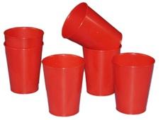 Vasos 30 cl set 6 ud por color