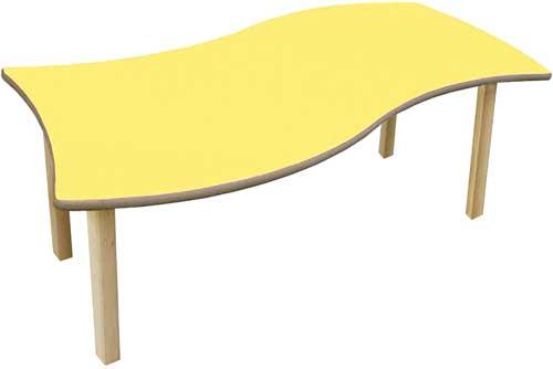 Mesa rectangular Onda detalle 5