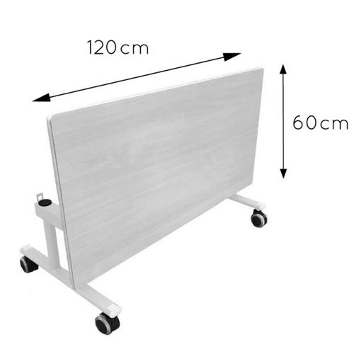 Mesa abatible lateral regulable 60 cm detalle 3