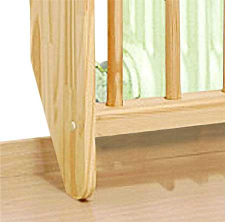 Cubre radiador de madera detalle 3