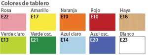 Colores para tablero