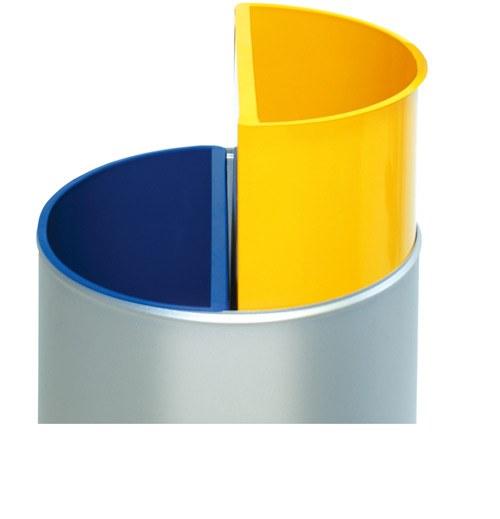 Papelera reciclaje 2 depósitos detalle 1