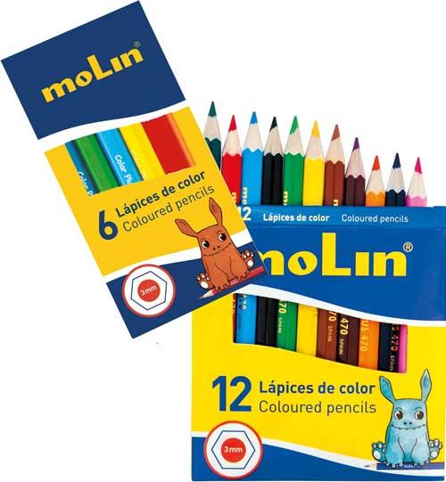 Lápices cortos de colores económicos