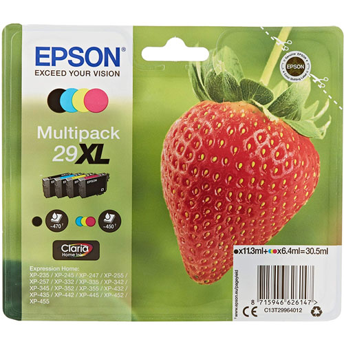 Cartuchos EPSON Inkjet 29XL (fresa)