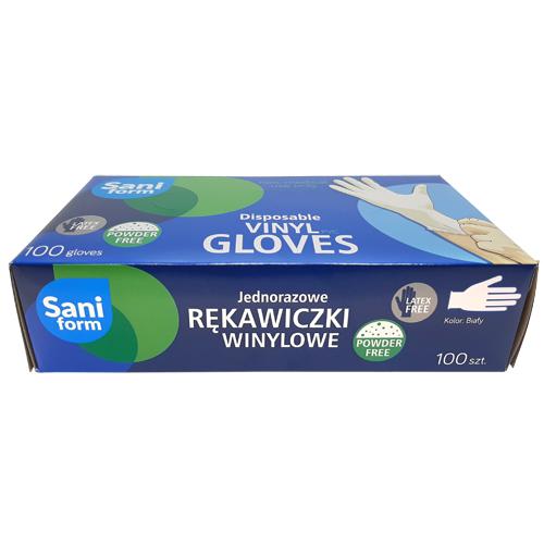 Guantes de nitrilo sin polvo caja de 100