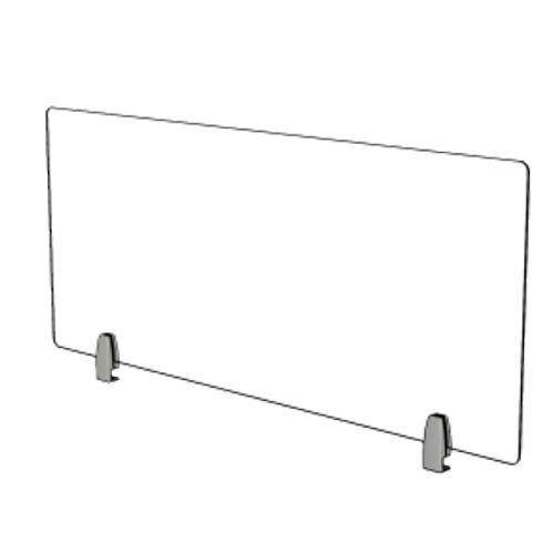 Mampara cristal frente de mesa detalle 2
