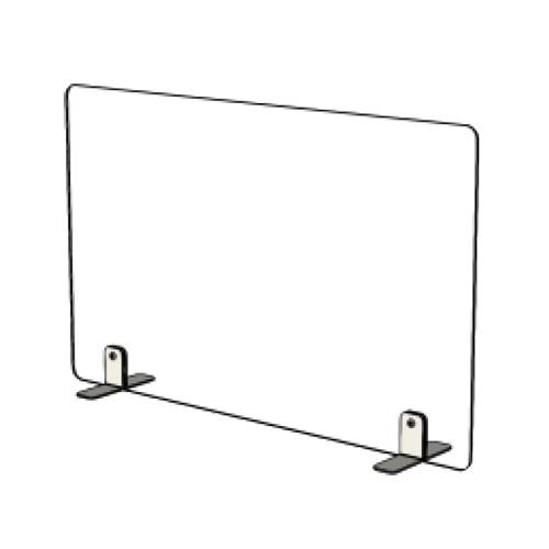 Mampara cristal templado separadora mesa detalle 3