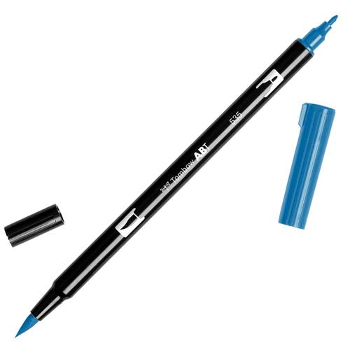 Rotulador doble punta tombow azules