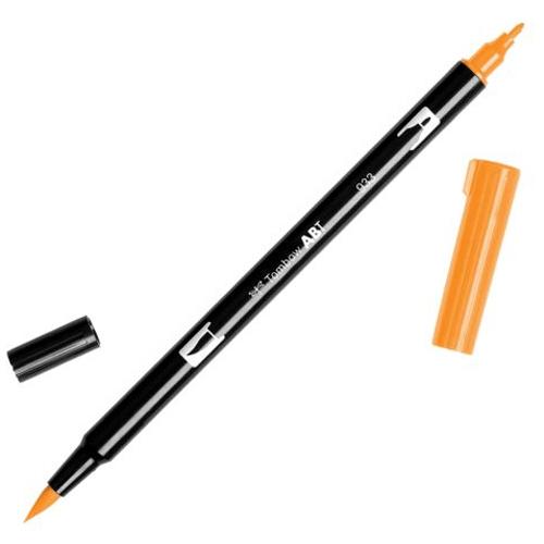Rotulador doble punta tombow naranjas