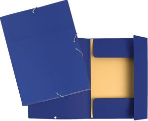 Carpetas cartón solapas azul económicas