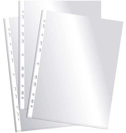 Fundas multitaladro 100 ud. Folio