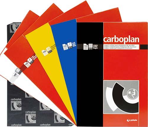 Papel carbón colores cajas 100 ud