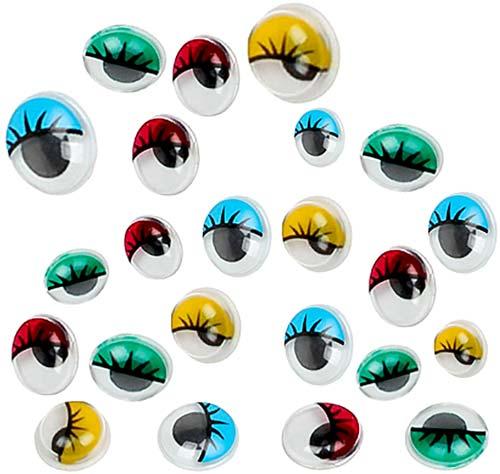 Ojos móviles adhesivos color