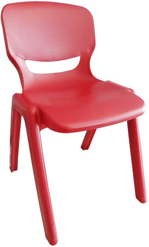 Silla polipropileno roja asiento 43 cm alto