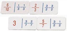 Doble dominó fracciones sumas - fracciones restas