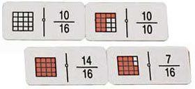 Dominó fracciones / cuadrados