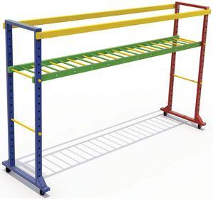 Escalera de braquiación con ruedas