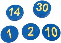 Números caucho 1-30