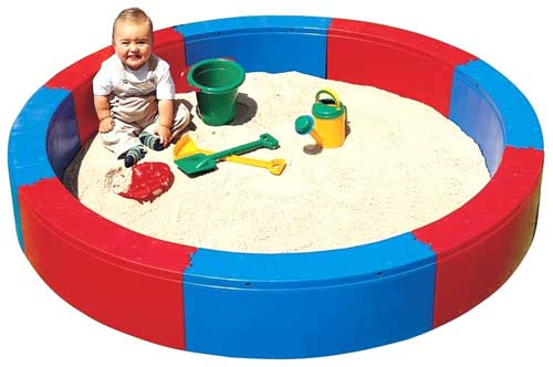 Piscina de arena redonda
