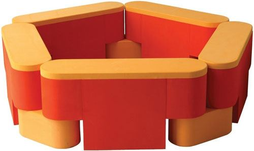 Piscina modular soft cajones 5 módulos