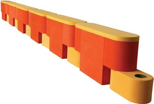 Piscina modular soft cajones 5 módulos detalle 1