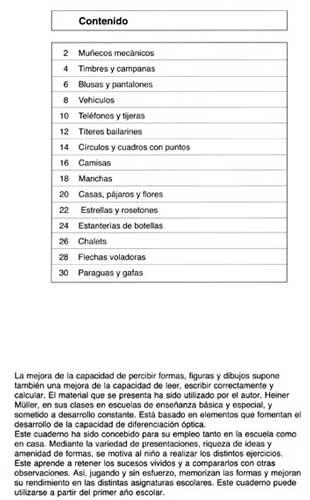 ARCO Ejercicios de concentración 1 indice